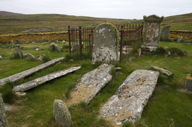 Ancient gravestones, Berneray