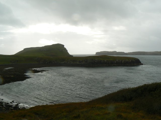 Oronsay through the rain