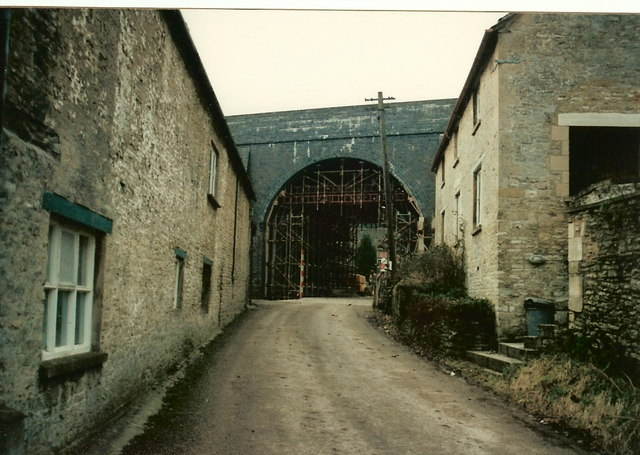 Old Railway Bridge Queen street  Chedworth, just prior to Demolition.