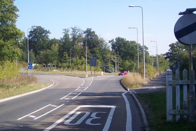 The A21 Roundabout, near Lamberhurst