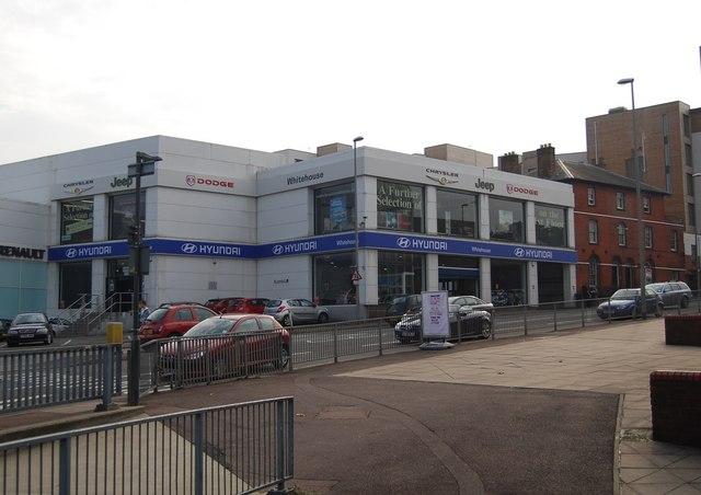 Large car dealership, Tonbridge Rd