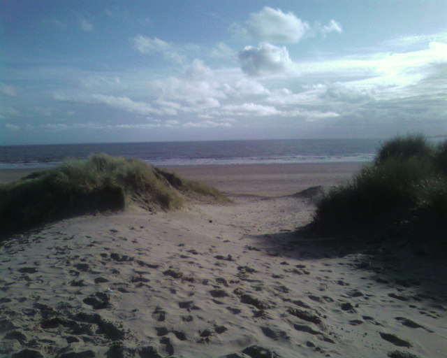 The sand dunes looking over to Port Talbot beach
