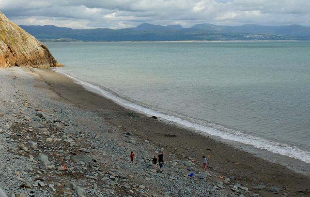 Criccieth beach