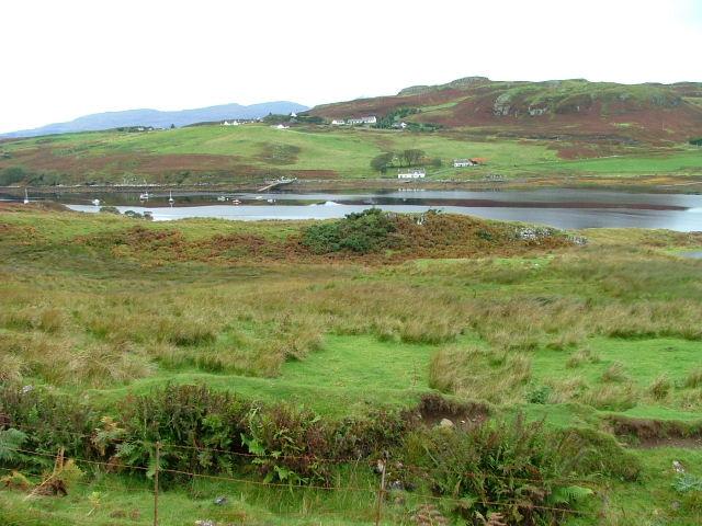 Grazing land overlooking Loch Beag