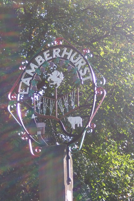 Close-up of Lamberhurst Village Sign