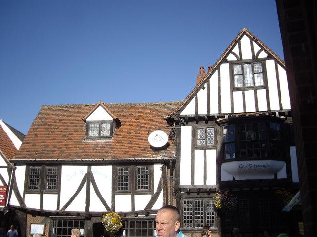 A Tudor-gabled building in York