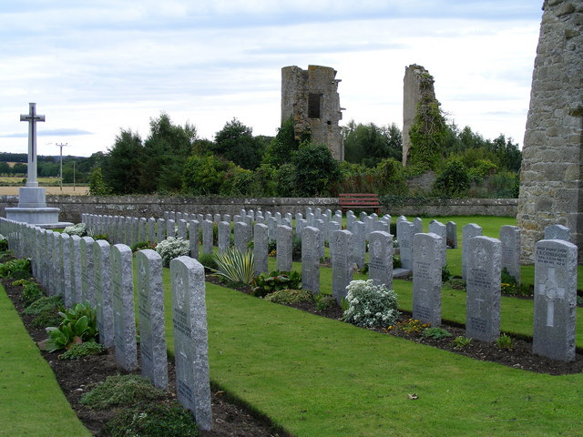 R.A.F. Graves at Kinloss Abbey