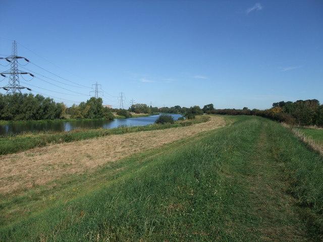 Trent Valley Way along the Fleet, Besthorpe