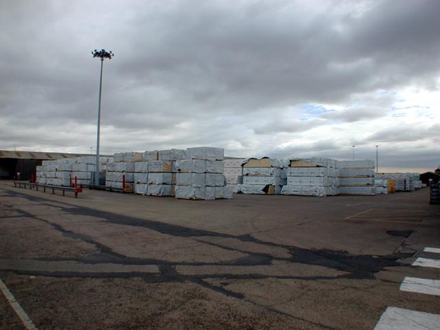 Timber Stacks at New Holland Dock