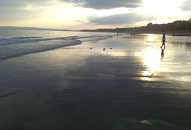 An Evening View of Bournemouth Beach