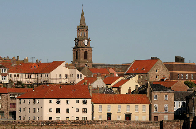 Buildings in Berwick-upon-Tweed town centre