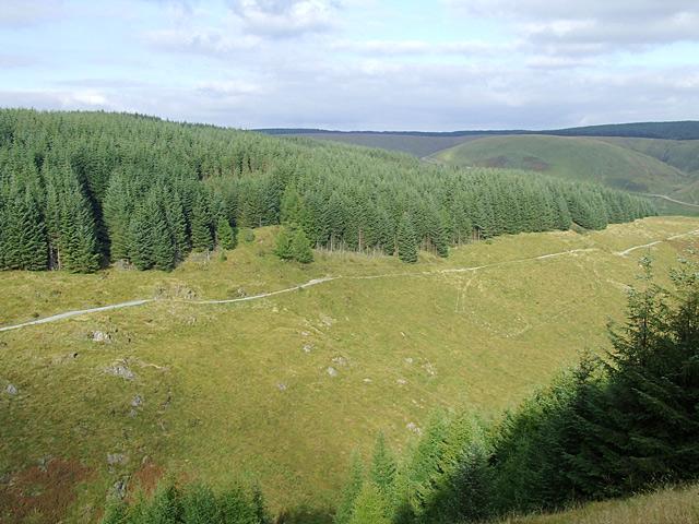 Across Cwm Gerwyn from Bryn Mawr, Ceredigion