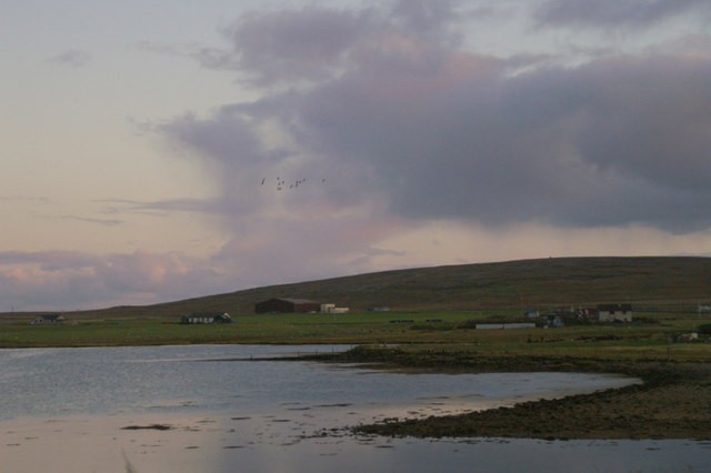 Dusk over Baltasound voe