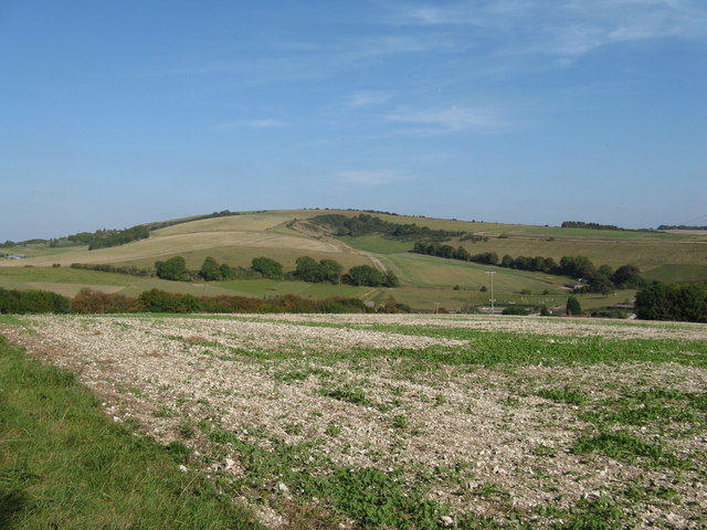 Downland view across dry valley
