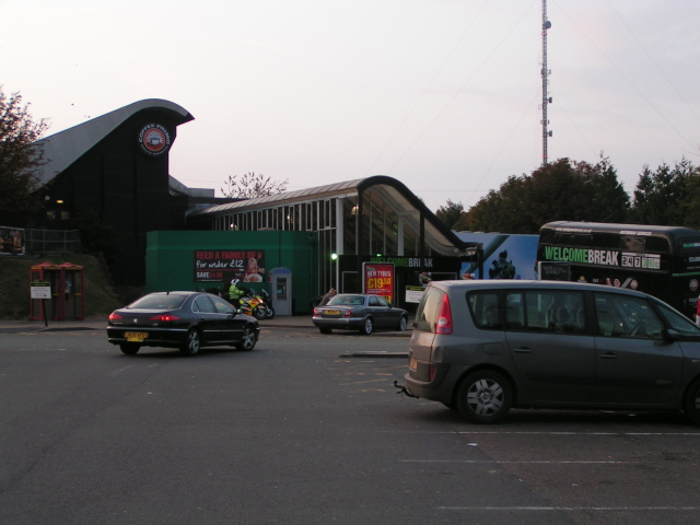 Membury Services on the west-bound M4 in Wiltshire