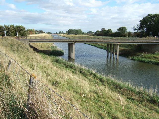 Tydd Gote bridge over The North Level Main Drain