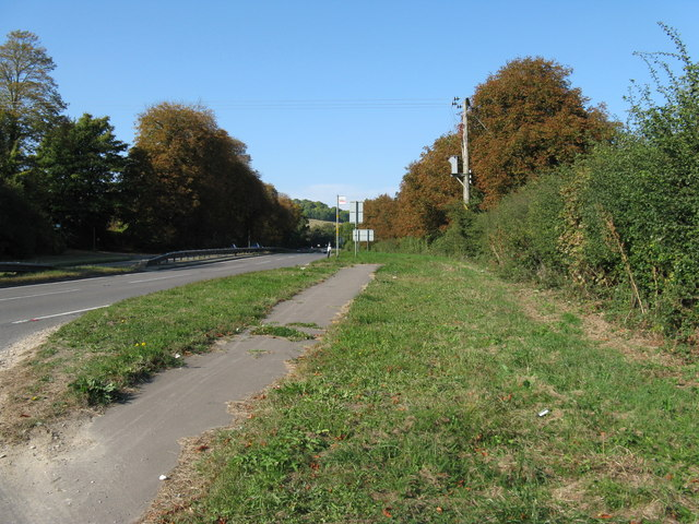 Bus stop on the A 24 southbound