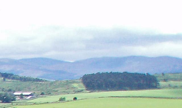 Deforested ridge above North Gellan