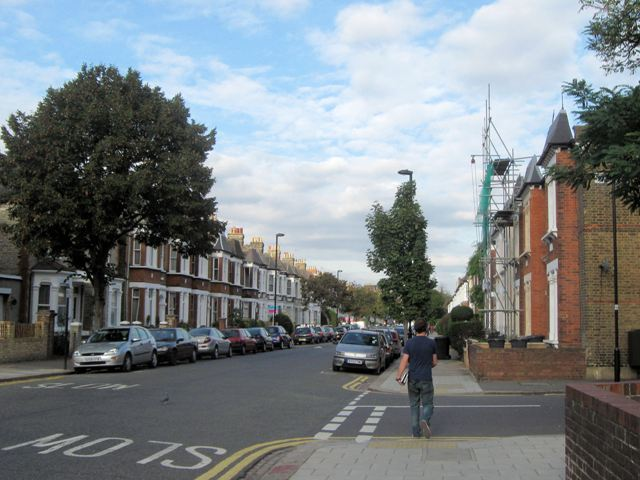 Victorian houses in Abbeville Road
