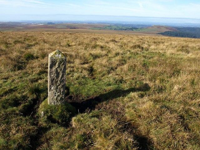 Boundary stone near Eylesbarrow