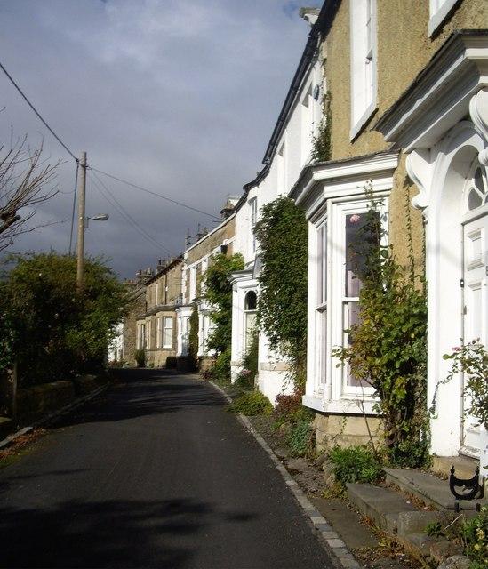 Bay-windowed houses on High Row