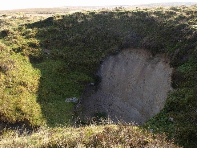Pit near Eylesbarrow