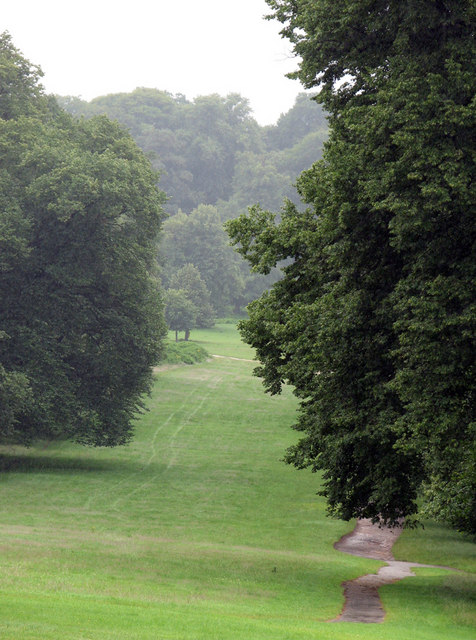 Wollaton Park on a damp day in July