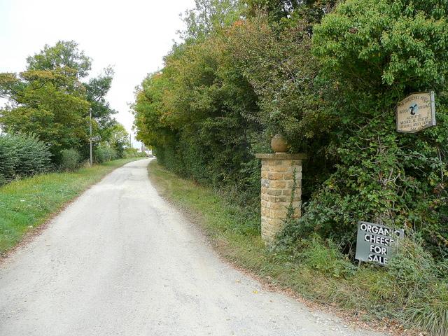 Road to Gorsehill Abbey Farm