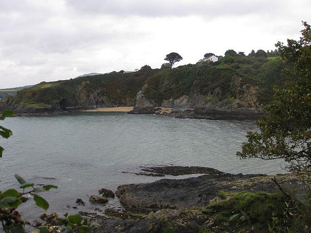 Sandy beach near Trwyn Isaac