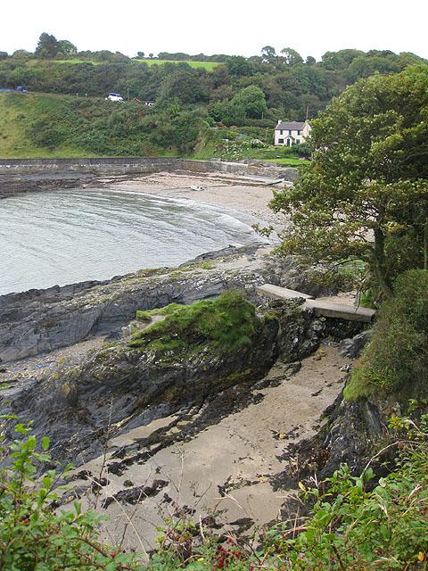 Sheltered beach at Cwm-yr-Eglwys