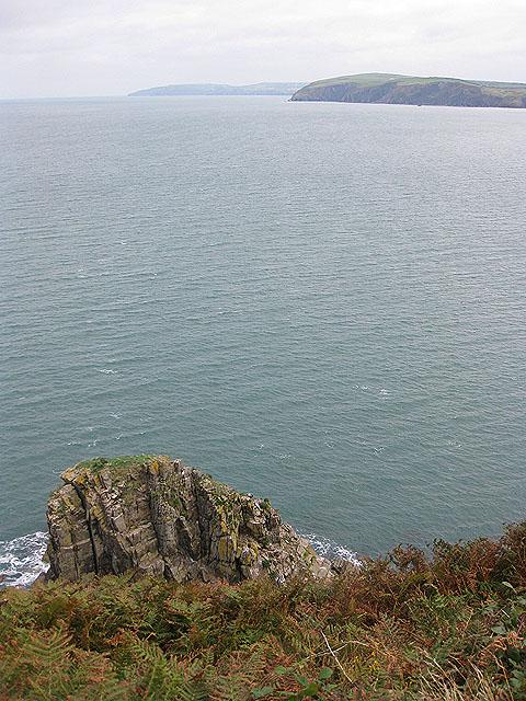 View NE over Needle Rock