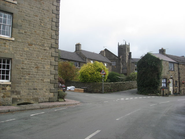 Longnor - View towards church from Carder Green