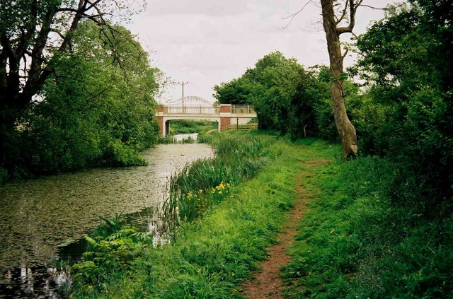 Thames & Severn Canal looking towards Spine Road Bridge