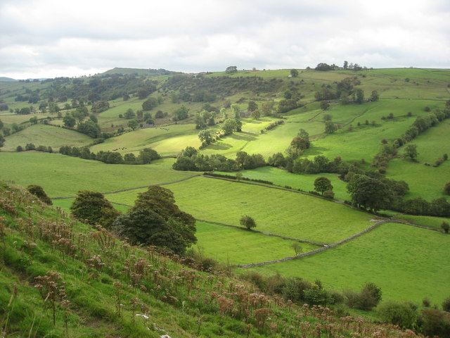 View down the valley in the direction of Pilsbury