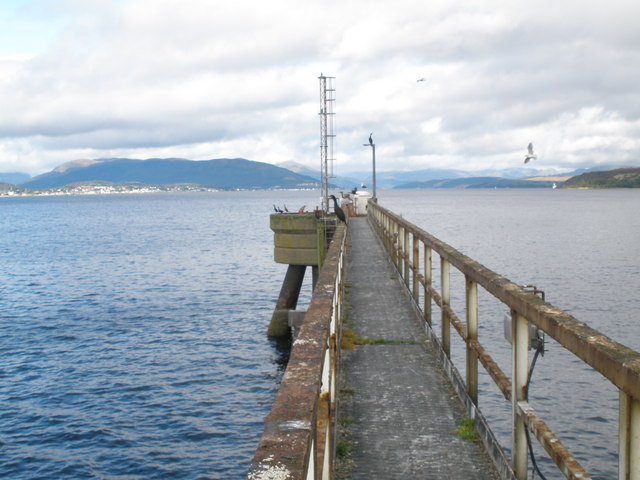 Mooring point at Inverkip Power Station Pier