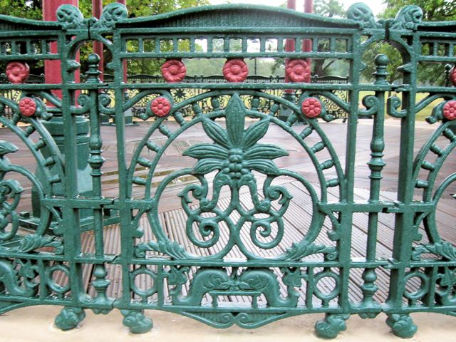 The Ironwork Railings on the Grandstand on Clapham Common