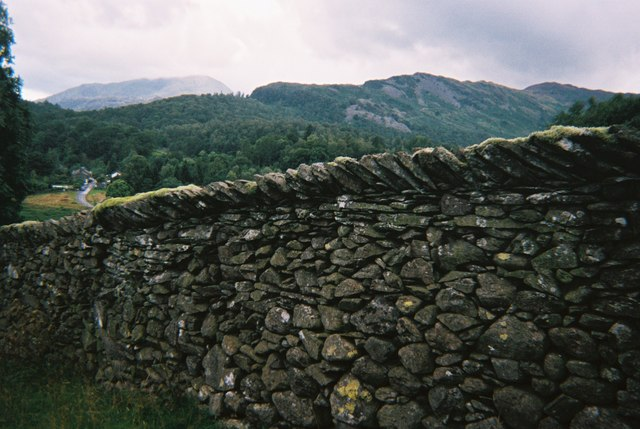 Dry stone wall, Elterwater