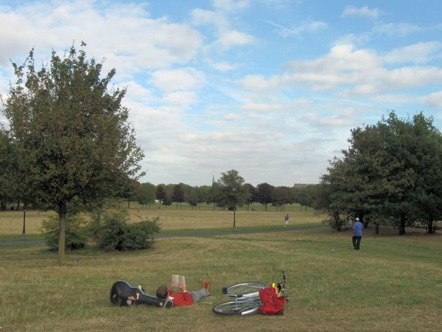 Relaxing on Clapham Common