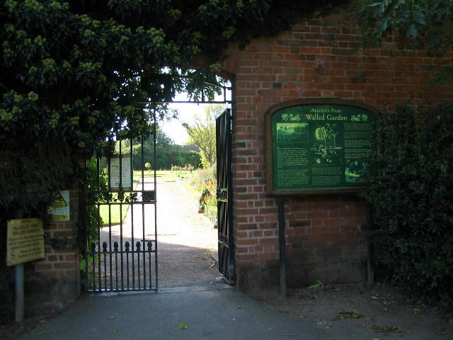 Gateway to Allesley Hall walled garden