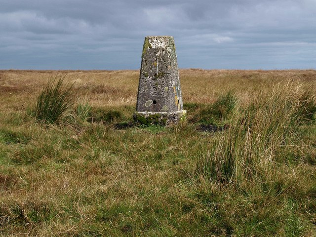 Lee Moor trig point