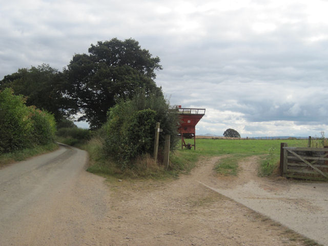 Lane and Footpath near Ensdon