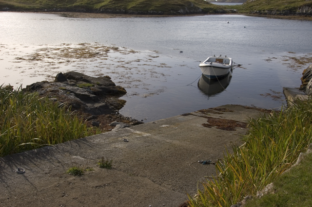 Small slipway in South Harbour, Scalpay