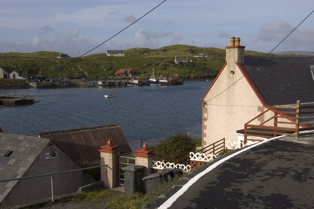 House overlooking North Harbour, Scalpay