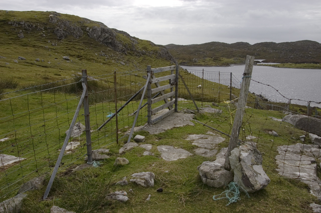 Fence above Loch an Duin