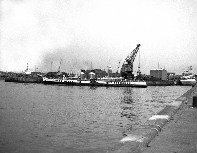 P. S. 'Waverley':  Port side, at Ayr passenger quay