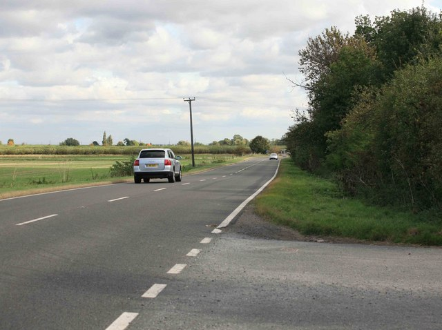 The A57 looking east towards Lincoln