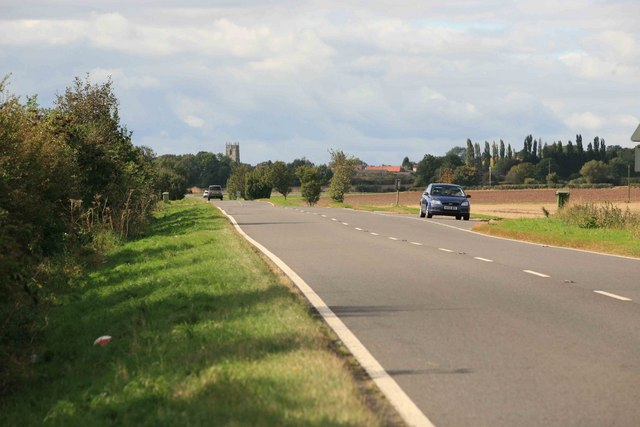 The A57 looking west towards East Markham