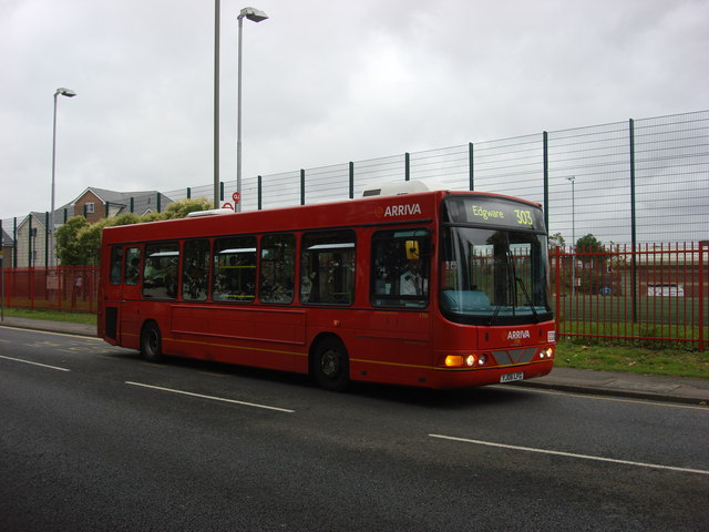 Route 303 bus on Grahame Park Way