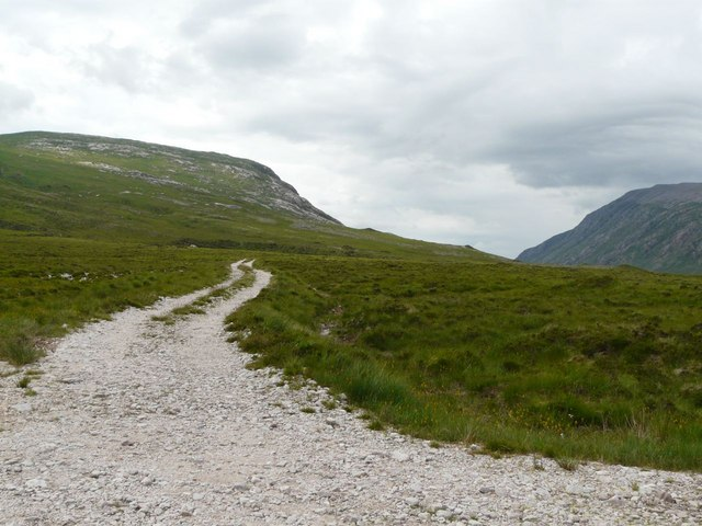 Track out from Loch Dionard