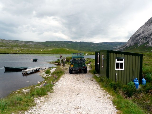 Loch Dionard fishing hut